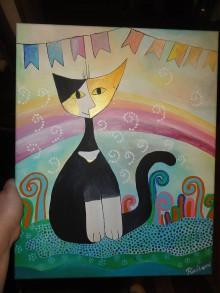 Obrazy - Čierna  Mačka - 7850240_