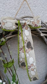 Dekorácie - Jarný ovečkový veniec - 7849297_