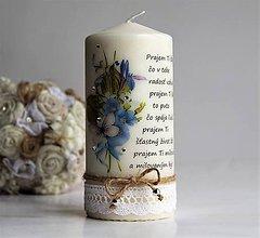 Svietidlá a sviečky - Dekoračná sviečka k narodeninám - 7848137_