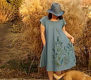 - Maľované šaty s bodliakmi, ľanovo-bavlnené  - 7846629_