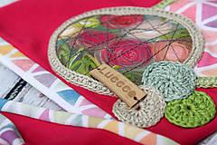 Detské čiapky - Jarný setík s maľovanou aplikáciou - 7847709_