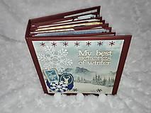 Papiernictvo - Vianočný prázdninový fotoalbum - z lyžovačky - 7846778_