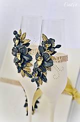 Nádoby - Luxusná svadba - svadobné poháre sada 2 ks - 7850294_