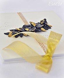 Papiernictvo - Luxusná svadba - kniha hostí s orchideami - 7849830_