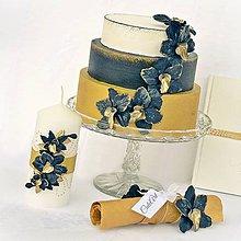 Dekorácie - Luxusná svadba - sada dekoračných kvetov - 7849877_