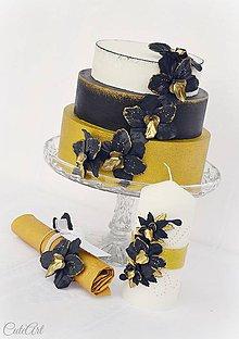 Úžitkový textil - Luxusná svadba - krúžky na obrúsky/menovky - 7850063_