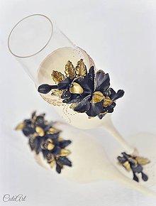 Nádoby - Luxusná svadba - svadobné poháre sada 2 ks - 7850305_