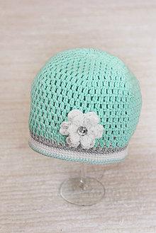 Detské čiapky - háčkovaná čiapka - 7849675_