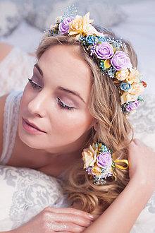 Ozdoby do vlasov - Romantický nežný kvetinový set - 7850597_