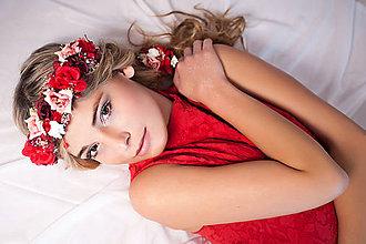 Ozdoby do vlasov - Romantický nežný kvetinový set - 7850637_