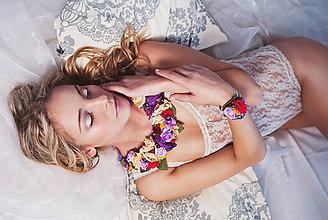 Náhrdelníky - Romantický nežný kvetinový set - 7850658_