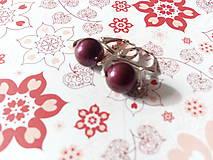 Náušnice - Swarovski Blackberries v striebre - 7850392_