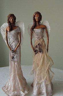 Socha - Anjelka s tylovou sukňou - 7850169_