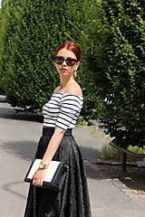 Sukne - Čierna kruhová sukňa - 7849424_