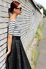 Sukne - Čierna kruhová sukňa - 7849426_