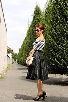 Sukne - Čierna kruhová sukňa - 7849423_