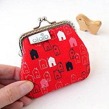 Peňaženky - Peňaženka mini Domčeky - 7847011_