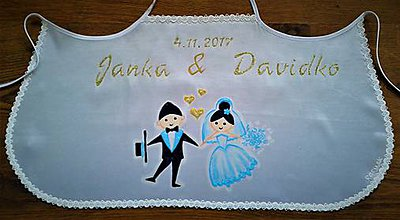 Iné oblečenie - svadobný podbradník - 7849688_