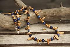 Šperky - Pánsky náhrdelník jaspis a lapis lazuli - 7846500_