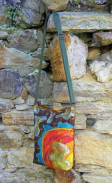 Kabelky - Originál malovaná kabelka - 7846447_