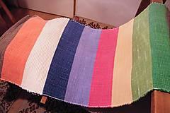 - Tkaný koberec  pestrofarebný so širokými pásmi - 7849073_