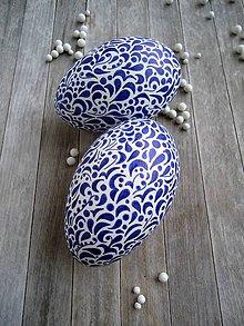 Dekorácie - Kraslica modrobiela - 7852653_