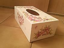 Krabičky - Servítkovník kvetovaný. - 7853635_