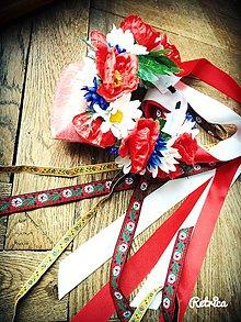 Ozdoby do vlasov - Svadobná parta vo folk štýle - 7851304_
