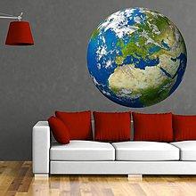 Dekorácie - (3005f) Nálepka na stenu - Zemeguľa Európa - 7851930_