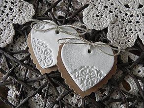 Darčeky pre svadobčanov - Svadobné srdiečka - čipkovance:-) - 7853683_
