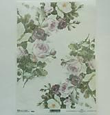 - Ryžový papier na decoupage - A4 - R836 - ruže, ružičky, roses - 7853494_