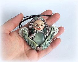 Iné doplnky - ♥ Ochranný VÍLÍ AMULET s jadeitom♥ - 7852902_