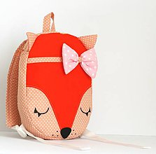 Detské tašky - RUKSAK baby LÍŠKA oranžový 1,5r. - 7854058_