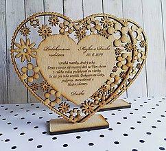 Darčeky pre svadobčanov - Poďakovanie rodičom na svadbu - 7851744_