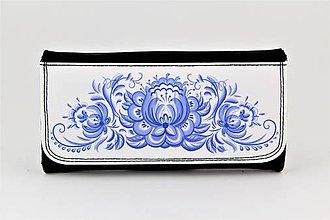 Peňaženky - Peňaženka ornament modrý 34 - 7851734_