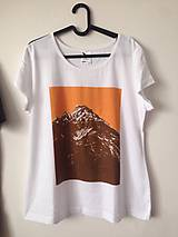 - Dámske horské tričko Gerlach / orange white - 7852391_