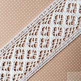 bavlnená paličkovaná čipka/vsadka 45 mm x 1 m