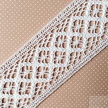 Galantéria - bavlnená paličkovaná čipka/vsadka 45 mm x 1 m - 7853025_