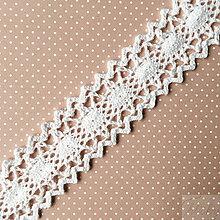 Galantéria - bavlnená paličkovaná čipka 23 mm x 1 m - 7853056_