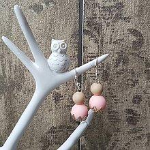 """Náušnice - Náušnice ku kojo náhrdelníku """"Bledoružová a telová"""" - 7854393_"""