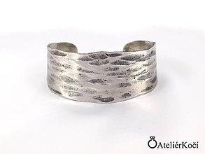 Náramky - Náramek kovaný z nerezu - 7851000_