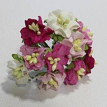 Papier - Papierové kvety - gardenia ružové 10ks - 7851758_