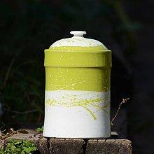 Nádoby - Kuchyňská dóza Tetinka 1 - Sasanky v trávě (lesk) - 7854070_