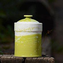 Nádoby - Kuchyňská dóza Tetinka 2- Sasanky v trávě (lesk) - 7854083_