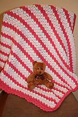 Textil - Háčkovaná deka pro děvčátko - 7852919_