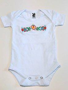 Detské oblečenie - Vyšívané detské folklórne body - 7853444_