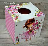 - Box na vreckovky pre dievčatko - 7852578_