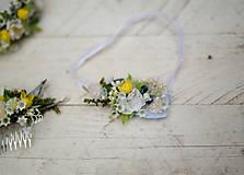 Kvetinový svadobný podväzok