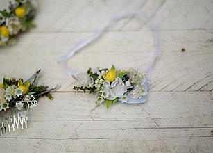 Bielizeň/Plavky - Kvetinový svadobný podväzok \