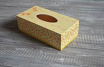 """Krabičky - box na vreckovky """"Kvetinkový"""" - 7854023_"""